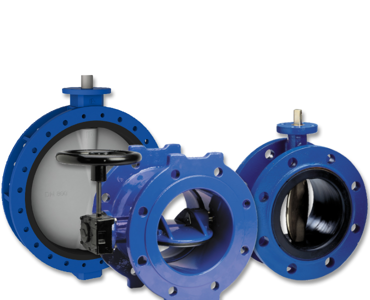 Various butterfly valves for water