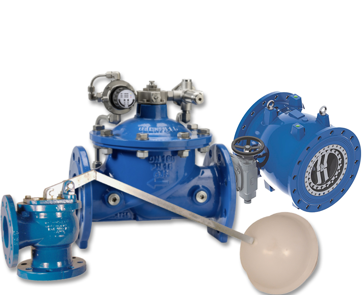 Control valves and needle valves for water supply