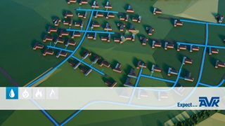 Sectioning the distribution network into DMAs allows for monitoring the level of water loss